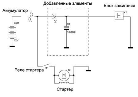 Запуск двиг зимой схема